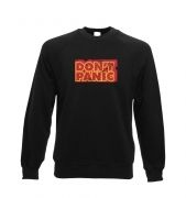Don't Panic crewneck sweatshirt