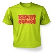 Don't Panic kids' t-shirt