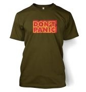 Don't Panic men's t-shirt