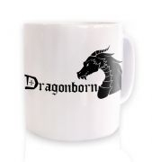 Dragonborn ceramic coffee mug