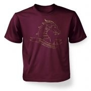 Gold Dragonslayer  kids t-shirt