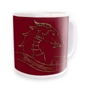 Gold Dragonslayer Ceramic Coffee Mug