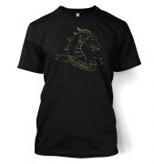 Gold Dragonslayer men's t-shirt