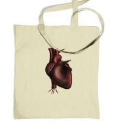 Electronic Heart tote bag