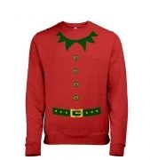 Elf costume (green detail)  sweatshirt  (heather)