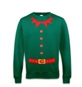 Elf costume (red detail) sweatshirt