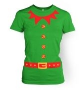 Elf   (red detail)womens t-shirt