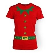 Elf   (green detail)womens t-shirt