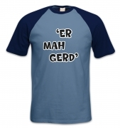 ER MAH GERD short-sleeved baseball t-shirt