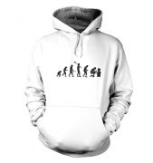 Evolution of a geeky man (black detail) hoodie