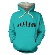 Evolution of a geeky man (black detail)  hoodie (premium)