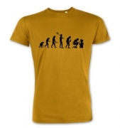 Evolution of a geeky man (black detail) premium t-shirt