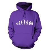 Evolution of a geeky man (white detail) hoodie