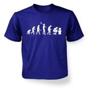Evolution of a geeky man (white detail) kid's t-shirt