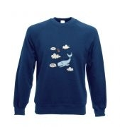 Falling Whale crewneck sweatshirt