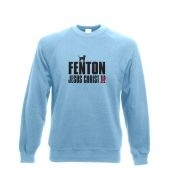 Fenton Dog Chasing Deer Jesus Christ Adult Crewneck Sweatshirt