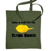 Flying Nimbus tote bag
