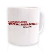 Football Management On CV ceramic coffee mug