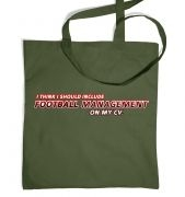 Football Management On CV tote bag