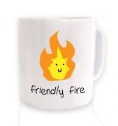 Friendly Fire ceramic coffee mug 