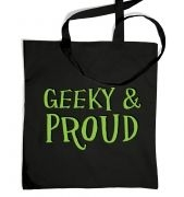 Geeky & Proud  tote bag
