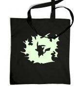 Glowing Pikachu Silhouette tote bag