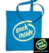 Geek Inside (glow in the dark) tote bag