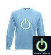 Glow in the Dark Power Symbol adult's crewneck sweatshirt