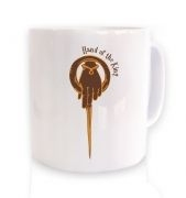 Gold Hand Of The King ceramic coffee mug