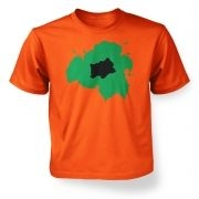 Green Bulbasaur Silhouette kids t-shirt