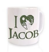Green I heart Jacob mug