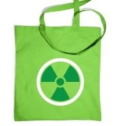 Green Radiation Symbol Tote Bag