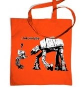I Am Your Father Banksy tote bag