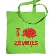 I Brain Zombies tote bag