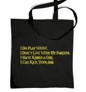 I Do Play WoW tote bag