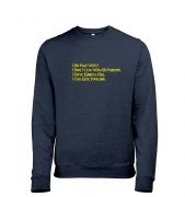 I Do Play WoW men's heather sweatshirt