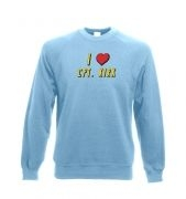 I heart Captain Kirk Adult Crewneck Sweatshirt