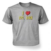 I heart Captain Kirk children's t-shirt