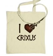 I heart Crixus Tote bag