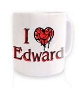I Heart Edward ceramic coffee mug