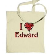 I heart Edward tote bag