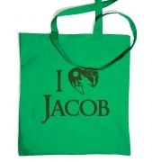 I heart Jacob tote bag