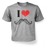 I heart moustache kid's t-shirt