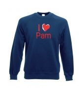 I heart Pam Adult Crewneck Sweatshirt