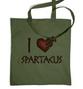 I heart Spartacus  tote bag