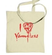 I Heart Vampires tote bag
