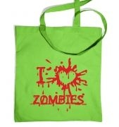 I heart zombies bag