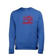 I heart Zombies Mens Heather Sweatshirt