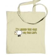 I'll Sheep The One On The Left Tote Bag