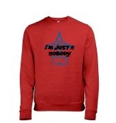 Just A Nobody men's heather sweatshirt